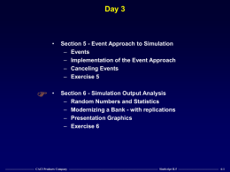 Day 3 - Events, Statistics, and SIMGRAPHICS