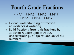 Fourth Grade Fractions