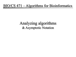CS790 – Introduction to Bioinformatics
