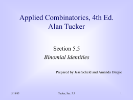 Tucker, Applied Combinatorics, Sec j