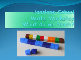 KS1 Math What we learn and our methods of teaching