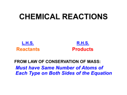 CHEMICAL REACTIONS - Georgia Institute of Technology