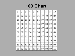 100 Chart - EvergreenStateCollege-Home
