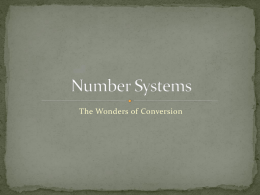 Number Systems - Monsignor Farrell High School