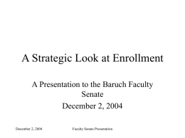 A Strategic Look at Enrollment