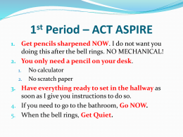 1st Period – ACT ASPIRE