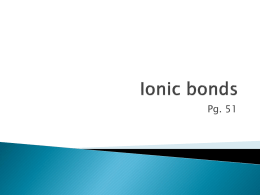 Ionic bond - EducatorPages.com