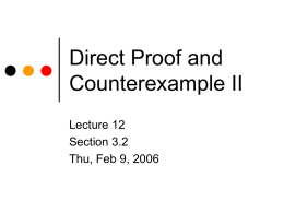 Direct Proof and Counterexample II - H-SC
