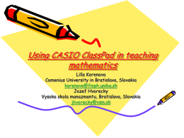 Some models of using ClassPad in teaching mathematics for