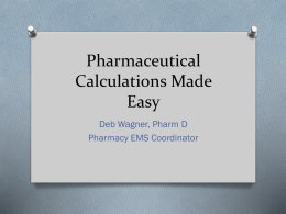 Pharmaceutical Calculations Made Easy