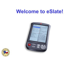Welcome to eSlate!