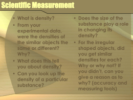 Scientific Measurement - Central Valley School District