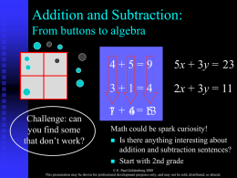 From Buttons to Algebra: Learning the Ideas and Language