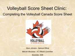 Volleyball Score Sheet Clinic