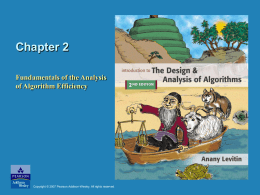 Chapter 2: Fundamentals of the Analysis of Algorithm