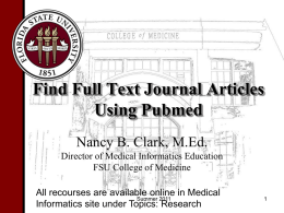 Writing a Research Paper - Florida State University