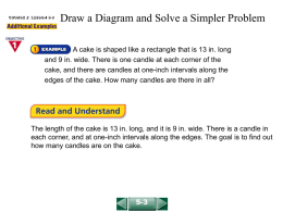 Draw a Diagram and Solve a Simpler Problem