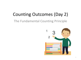 Counting Outcomes - Olean Middle School