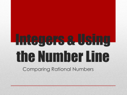 The Value of the Number Line