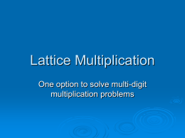 Lattice Multiplication - West
