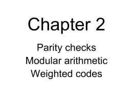 Simple Block Code Parity Checks