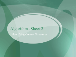 Algorithms Sheet 2 - Only Programmerz (Best Spot for