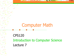 Introduction to Computer Science1