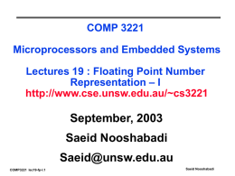 ELEC 2041 Microprocessors and Interfacing Lecture 0