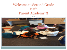 Welcome to Second Grade Math Parent Academy!!!