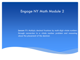 Engage NY Math Module 1 - Mrs. Neubecker's 5th Grade