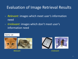 Evaluation of Image Retrieval Results