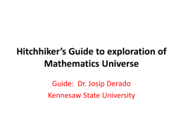 Hitchhiker`s Guide to exploration of Mathematics