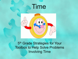 Solving problems involving time