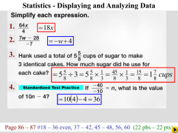 Chapter 2-5: Statistic Displaying and Analyzing Data