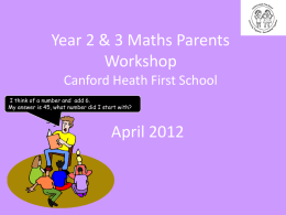 Year 2 / 3 Slideshow - Canford Heath Infant School