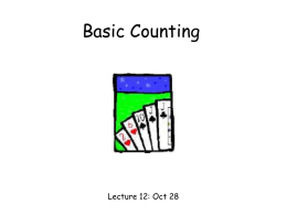 Lecture 12: basic counting