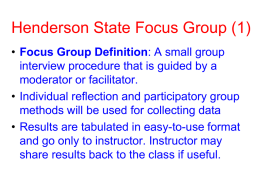 Focus Group - Henderson State University