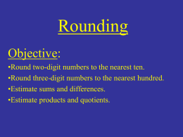 Rounding Power Point