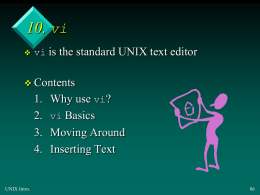 Introduction to UNIX - People Server at UNCW