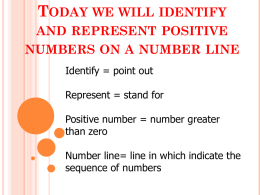 B4 Identifying and represetning positive integers on a number line
