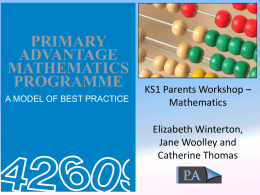 Year 1 and 2 Maths Parents Workshop