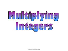 h) Multiply Integers Day 1