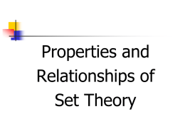 Properties and Relationships of Set Theory PowerPoint