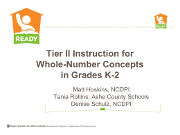 Tier II Instruction for Whole-Number Concepts in