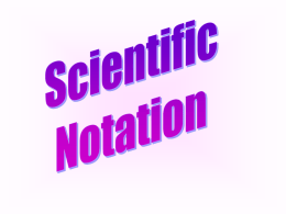 Scientific Notations
