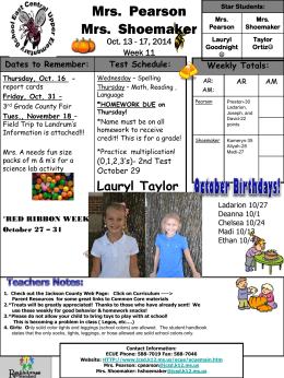 East Central 3rd Grade Newsletter