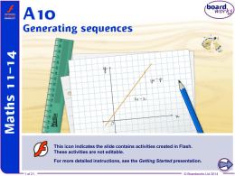 Generating sequences