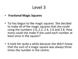 The Magic Squares - Bedfordmathsacademy