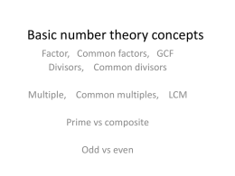 Number theory powerpoint