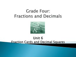 Fourth Grade Fractions and Decimals session 3